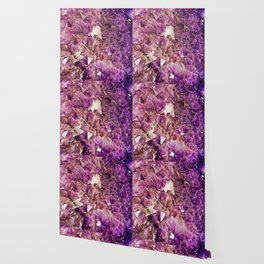 Gleaming Purple Geode Crystals Wallpaper