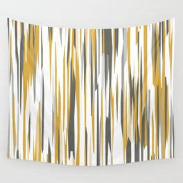 Gold gray and white Wall Tapestry