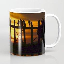 Sunset at U Bein Bridge, Myanmar Coffee Mug