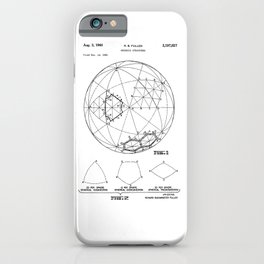 Buckminster Fuller 1961 Geodesic Structures Patent iPhone Case