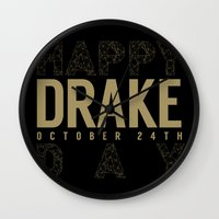 birthday Wall Clocks featuring Birthday by October's Very Own