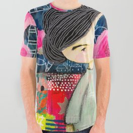 Quilted Princess All Over Graphic Tee