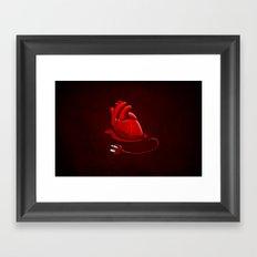 Unplug my Heart Framed Art Print