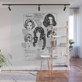 Wig Party Wall Mural