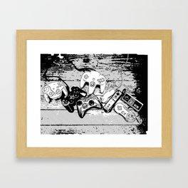 Joysticks collection Framed Art Print
