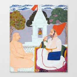 Baba Atmaram - holy man at a Vishnu Shrine - Vintage Indian print Canvas Print