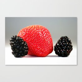 Strawberry Blackberry Canvas Print