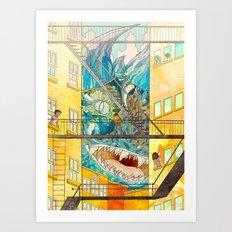 Muncipal HELLO Art Print