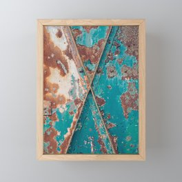 Teal and Rust Framed Mini Art Print
