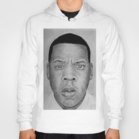 jay z Hoodies featuring Jay-z by pat langton