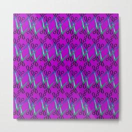 Shears Pattern Metal Print
