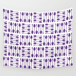 Purple Spoons Pattern Wall Tapestry