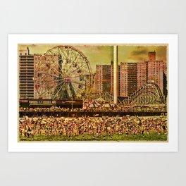 Coney Island Summer Art Print