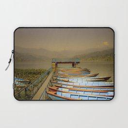 Boats on Phewa Lake, Pokhara, Nepal Laptop Sleeve