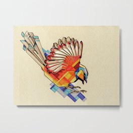 Colorful Diving Bird Metal Print