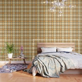 Gold Tartan Wallpaper