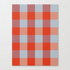 Pixel Plaid - Autumn Bark Canvas Print
