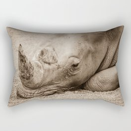 Rhino Sleeping Rectangular Pillow