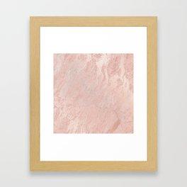 Rose Gold Foil Framed Art Print