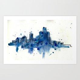 Going Downtown: Detroit Art Print