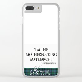 Motherf*cking Matriarch Clear iPhone Case