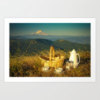 Coffee on Courtney Ridge Art Print