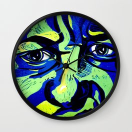 My emotive face in the spring Wall Clock