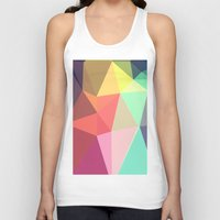 geometry Tank Tops featuring peace by contemporary