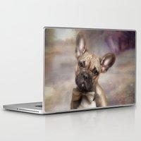 french bulldog Laptop & iPad Skins featuring French Bulldog by CindysArt
