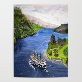 River Boat Journey Poster