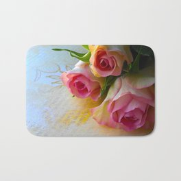 Sunshine And Roses Bath Mat