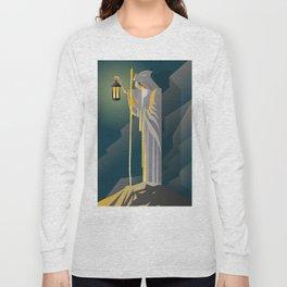hermit tarot card Long Sleeve T-shirt