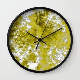 Gold Hide Print Metallic Wall Clock