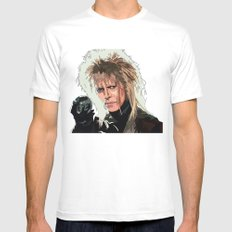 D. Bowie, inside the labyrinth MEDIUM Mens Fitted Tee White
