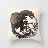 bouletcorp Throw Pillows featuring Ouroboros by Bouletcorp