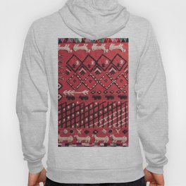 V22 Sheep herd Design Traditional Moroccan Carpet Texture. Hoody