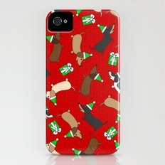 Merry Dachshunds iPhone (4, 4s) Slim Case
