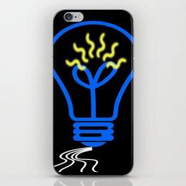 light bulb iPhone Skin