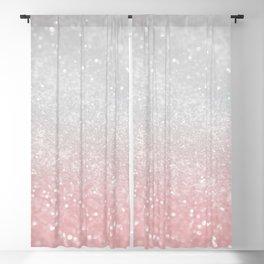Blush Gray Princess Glitter #1 (Faux Glitter - Photography) #shiny #decor #art #society6 Blackout Curtain
