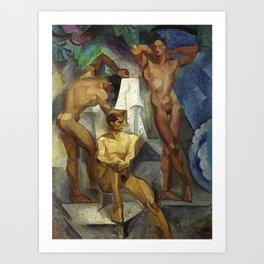Young Bathers by George Pauli Nude Male Art Art Print