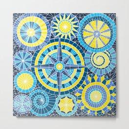Mosaic Pinwheels Metal Print