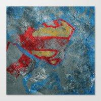 superman Canvas Prints featuring Superman by Fernando Vieira