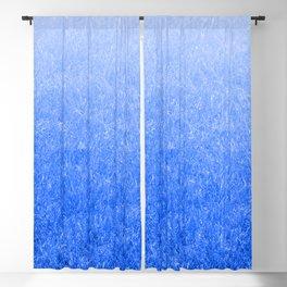 Light-to-Dark Blue Ombre Gradient Grass Blackout Curtain