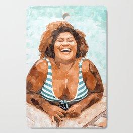 Curvy & Happy #painting #illustration Cutting Board
