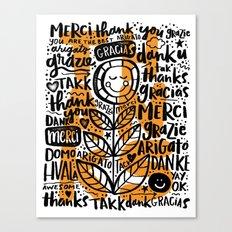 merci thanks grazie arigato Canvas Print