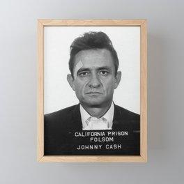 Johnny Cash Mugshot Framed Mini Art Print