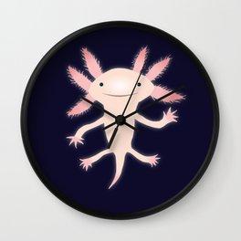 Axolotl vector illustration Wall Clock