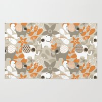 nursery Area & Throw Rugs featuring African Nursery Elephant 1 by EloisaD