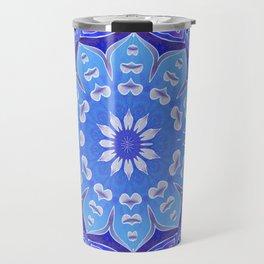 Indigo Wholeness Vibe Mandala Travel Mug