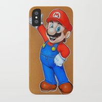 mario iPhone & iPod Cases featuring mario by eyal mor